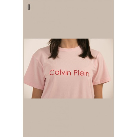 CALVIN PLEIN PINK TEE WOMAN